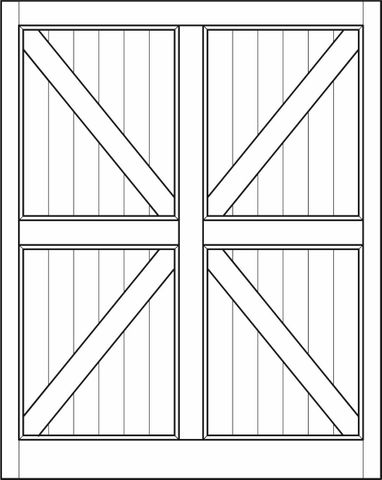Interior Barn Door Arrow Double