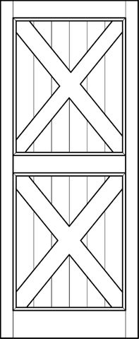 Interior Barn Door Double Cross