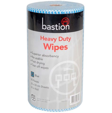 Heavy Duty Wipes Blue - Roll