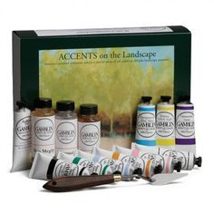 Gamblin Oil Accents on the Landscape Set
