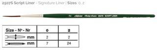 Ruby Satin Script Liner Size 2