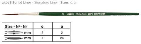 32 Ruby Satin Script Liner
