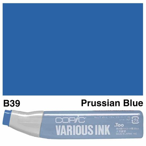 Copic Ink B39-Prussian Blue