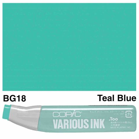 Copic Ink BG18-Teal Blue