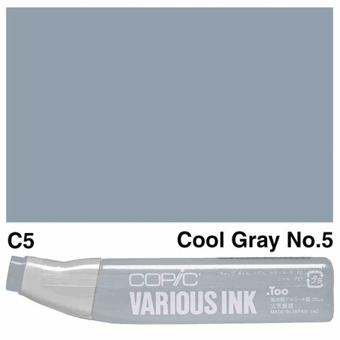 Copic Ink C5-Cool Gray No5
