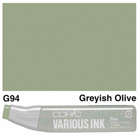 Copic Ink G94-Grayish Olive