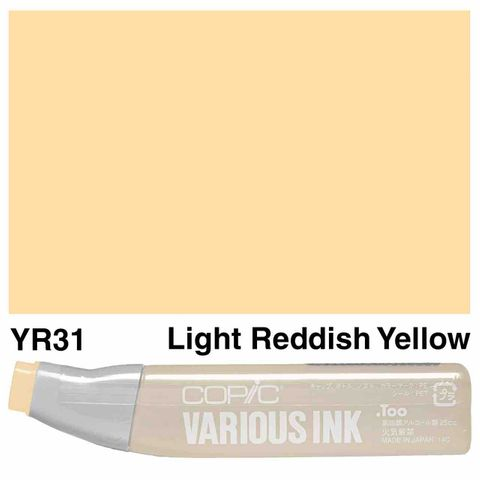 Copic Ink YR31-Light Reddish Yellow