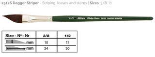 Ruby Satin Dagger Striper Size 3/8''