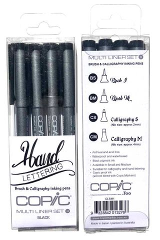 Copic Multiliner Calligraphy Hand Lettering Set