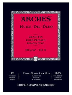 Arches Oil Paper Pads (Cold Press) 12 Sheets
