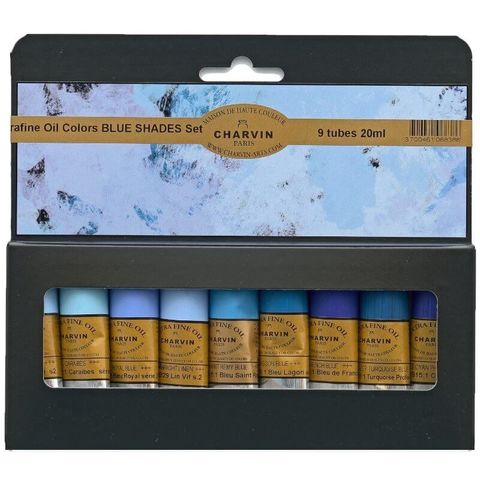 Charvin Extra Fine Oil Set Blue Shades