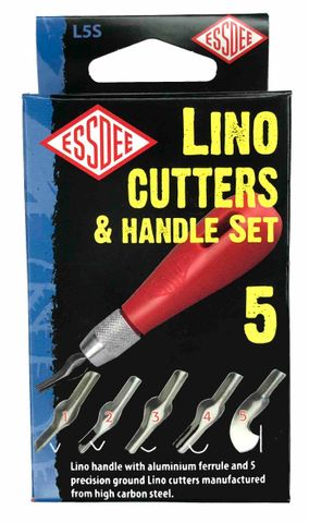 Lino Cutters & Handle Set 5
