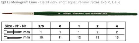 40 Ruby Satin Monogram Liner