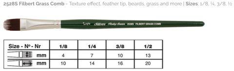 47 Ruby Satin Filbert Grass Comb