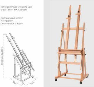 Large Double Mast Studio Easel