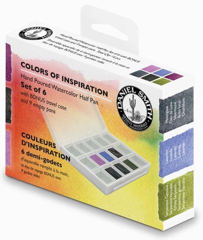 Daniel Smith Hand poured Half Pan Colours of Inspiration Set
