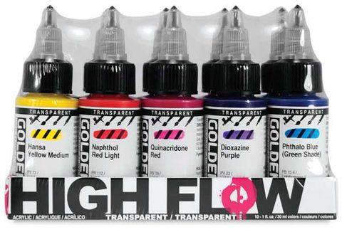 Transparent Colours, Set of x10 - (30 ml)