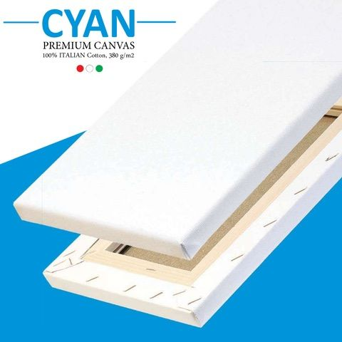 Cyan Canvars 18mm Depth Cotton