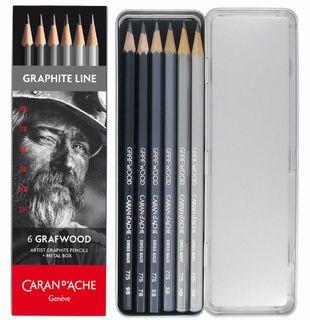 Caran D'Ache 6 Grafwood Set