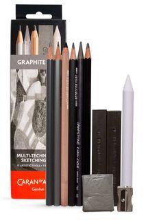 Caran D'Ache Multi-Tech Sketch Set 11 Artistic Tools + 1 Metal Box