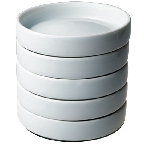 Porcelain Round x5 Dishes