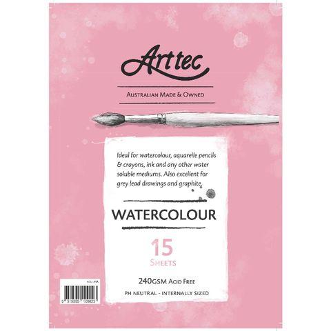 Arttec Watercolour Pad A5 - 15 Sheets