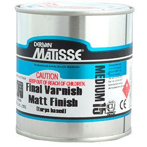 Matisse MM15 Matt Varnish Turps Based 500ml