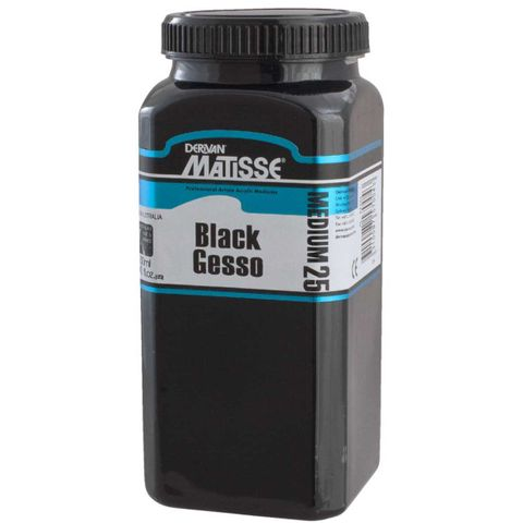 Matisse MM25 Black Gesso 1ltr