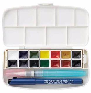 Zig Watercolour TRANSPARENT Box Set 14 Colours