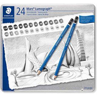 Lumograph Pencil - 12B, 11B, 10B, 9B, 8B, 7B, 6B, 5B, 4B, 3B, 2B, B, HB, F, H, 2H, 3H, 4H, 5H, 6H, 7H, 8H, 9H $ 10H