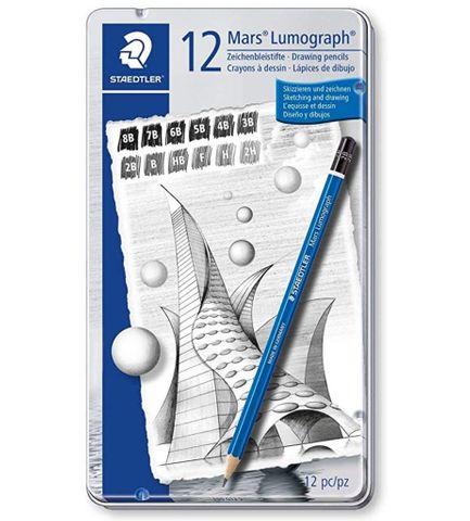 Lumograph Pencil - 8B, 7B, 6B, 5B, 4B, 3B, 2B, B, HB, F, H, & 2H