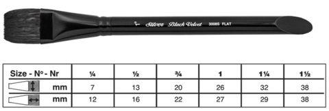Black Velvet FLAT/SQUARE WASH 3/4''