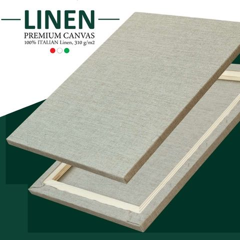 Canvars Italian LINEN 18mm Clear Primed