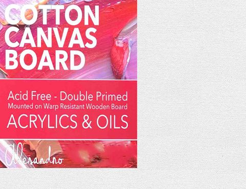 """Cotton Acid Free Double Primed Boards (10x12"""")"""
