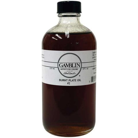 Gamblin Burnt Plate Oil 237ml