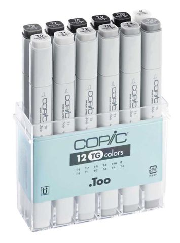 Copic Original 12 Toner Grey Marker Set
