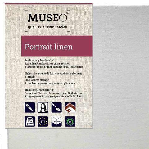 MUSEO Portrait Linen on stretcher 21mm