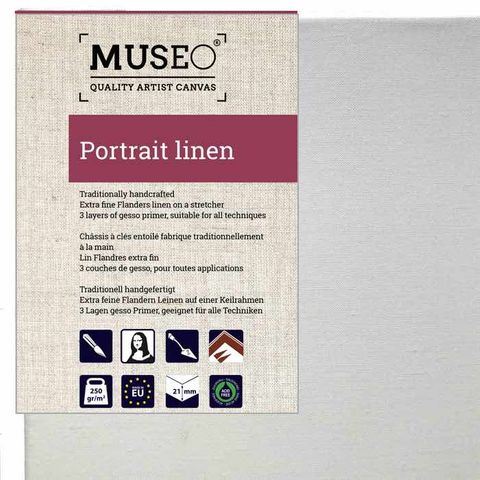 MUSEO Portrait Linen on stretcher 21mm x6 Pack