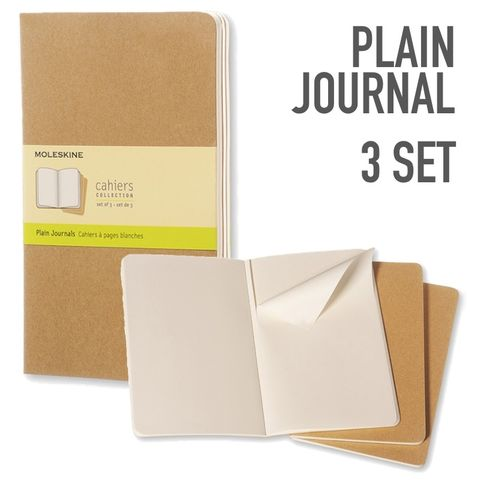 Moleskine Plain Journals Set of 3
