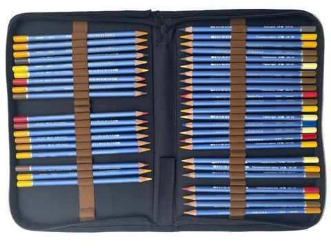 Artist Pencil & Brush Zipper Case holds 48 pencils