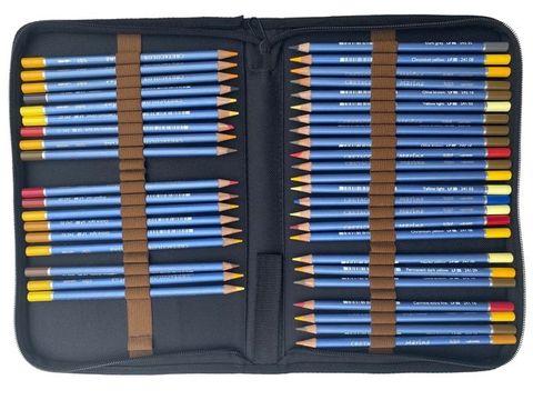 Artist Pencil & Brush Zipper Case holds 48 pencils