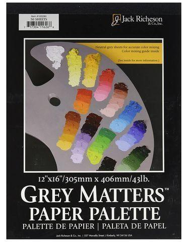 Jack Richeson Grey Matters Paper Palette