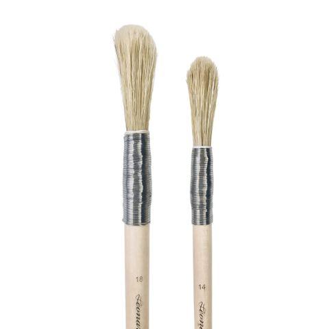 Leonard 0209FP Bristle Marbling Brush