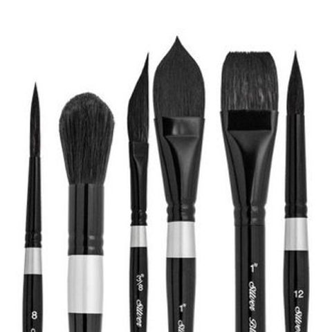 Silver Brush 3000S Black Velvet Watercolour Brushes
