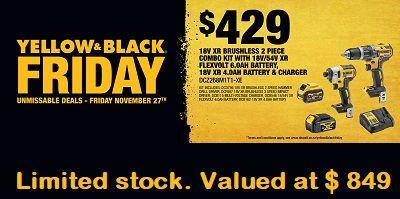 Dewalt Black Friday Deal