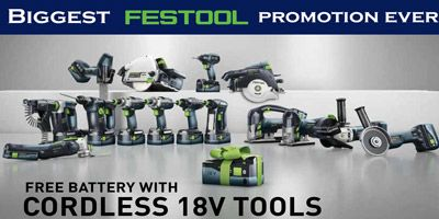 Festool Free Battery Promotion