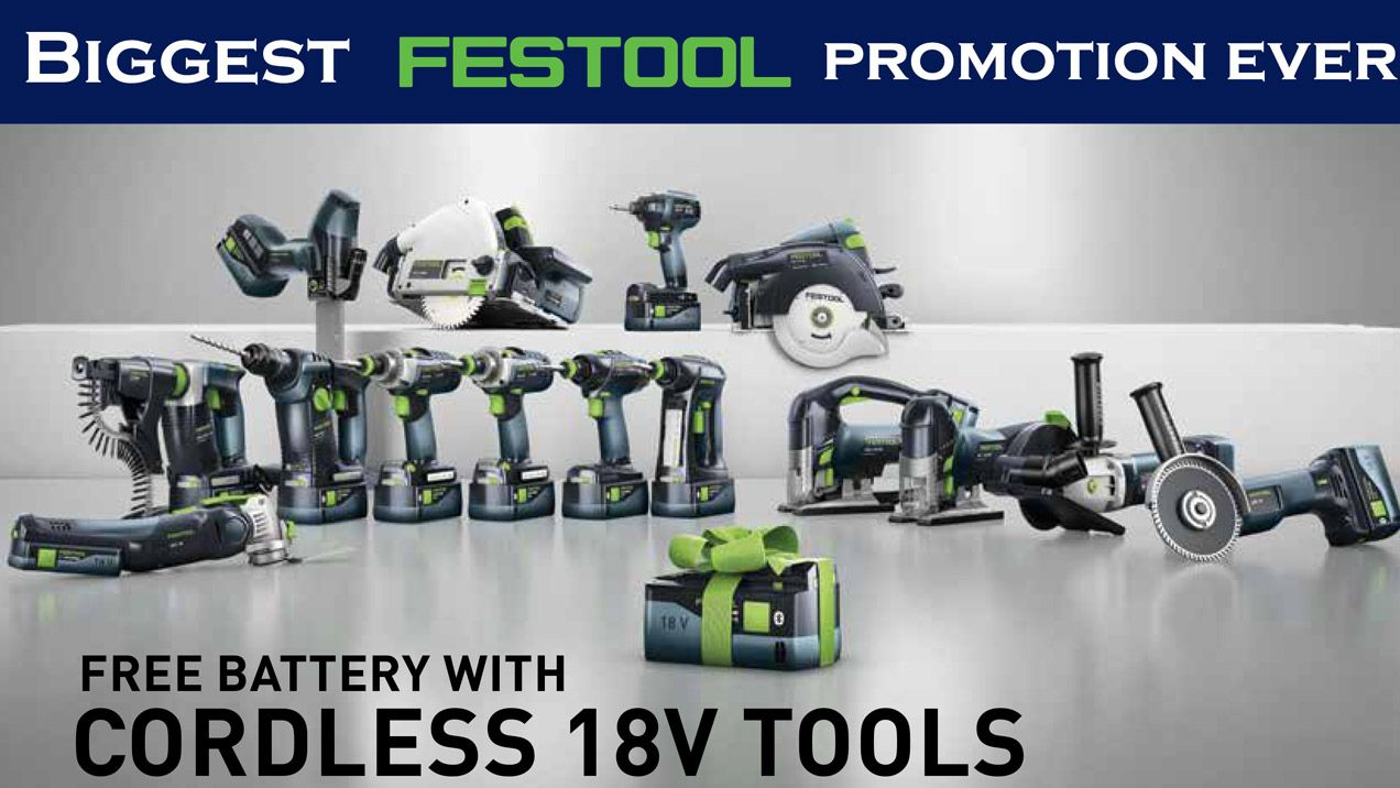 Festool Bonus Battery Promotion