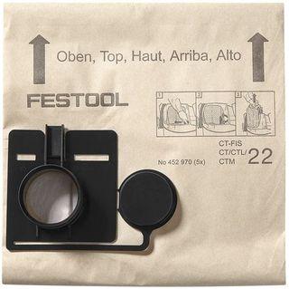 FESTOOL CT 22 FILTER BAGS (INDIVIDUAL BAGS)