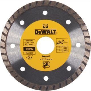 DEWALT SEGMENTED DIAMOND TURBO 125MM CUTTING BLADE