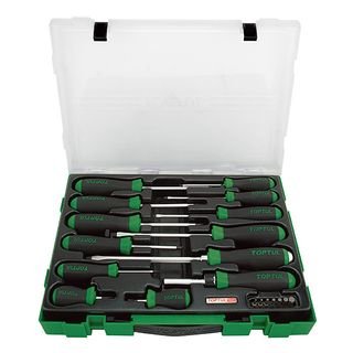 TOPTUL 20PCS FL/PH/PZ/SQ SCREWDRIVER & BIT SET